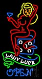 Lady Luck She Devil Outdoor Neon Sign 37'' Tall x 20'' Wide x 3.5'' Deep