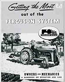 ford    tractor ferguson system implement owners