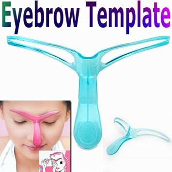 Amazon Com Professional Eyebrow Template Stencil Shaping Diy Tool