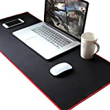 """ANPHSIN 34.8"""" × 15.4"""" x 0.12""""Large Extended Waterproof Gaming Mouse Pad - Non-slip Rubber Base Keyboard Mat for Laptops - Black"""