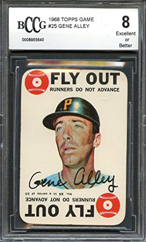 1968 topps game #25 GENE ALLEY pittsburgh pirates BGS BCCG 8 Graded - Game Topps 1968