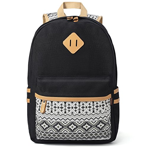 cute black teen side backpack - 3