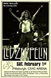 Led Zeppelin Page Plant 1975 Civic Arena Pittsburgh LIVE Retro Art Print — Poster Size — Print of Retro Concert Poster — Features Jimmy Page, Robert Plant, John Bonham and John Paul Jones .