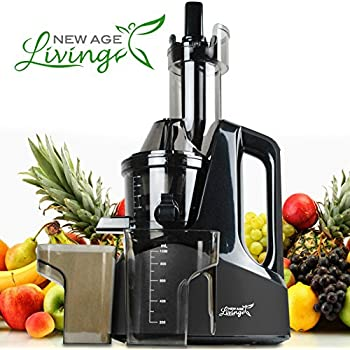 Argus Le Slow Masticating Juicer Review : Amazon.com: New Age Living Wide Chute Masticating Slow Juicer Machine Best 45 RPM Cold Press ...