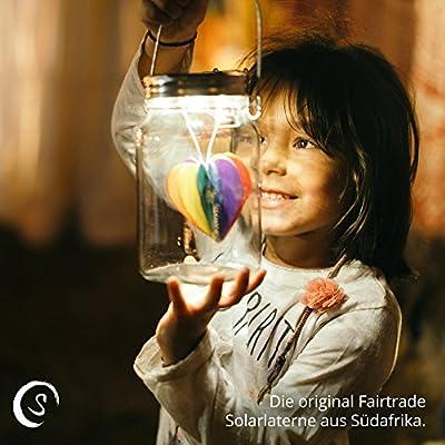 SONNENGLAS Classic 1000ml | Die Original Solarlampe/Solar-Laterne im Einmachglas aus Südafrika (inkl. USB) | warmweiß…