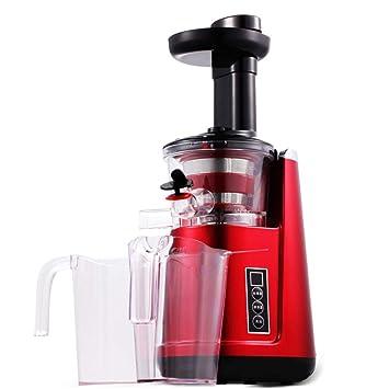 WLM Máquina de Zumo Lento, exprimidor casero de Baja Velocidad, exprimidor eléctrico de Fruta,Rojo,Un tamaño: Amazon.es: Deportes y aire libre