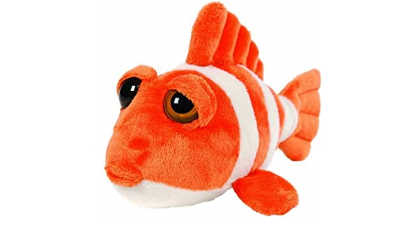 "11/"" Ringer Orange Clown Fish Soft Baby Toy Plush Beanie Lil Peepers"