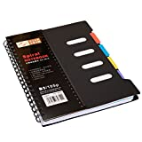BinaryABC Back to School Supplies,Spiral Notebook,Lined Notebook,Classified Notebook Diary Journal Notebook