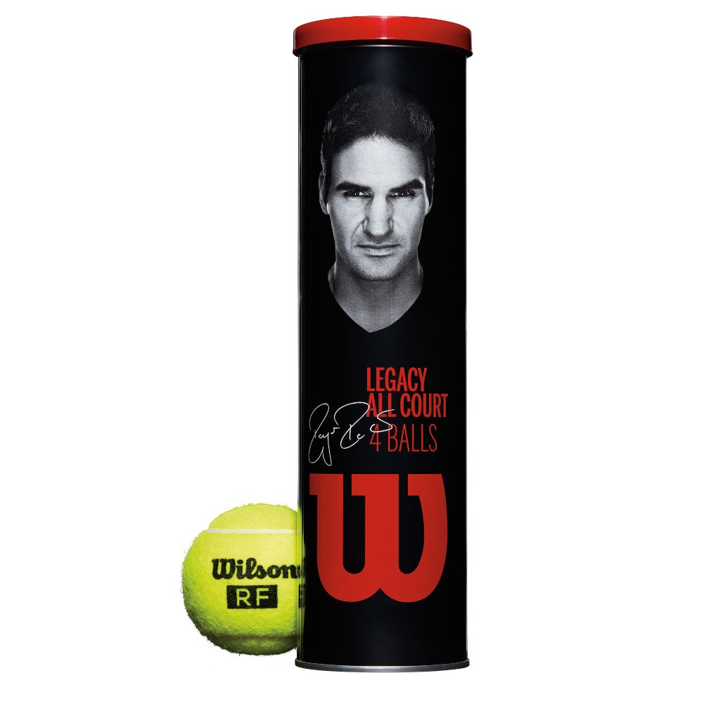 Wilson - WRT11990M - Roger Federer Legacy All Court Tennis Balls - 4 Ball Cans/18 Cans