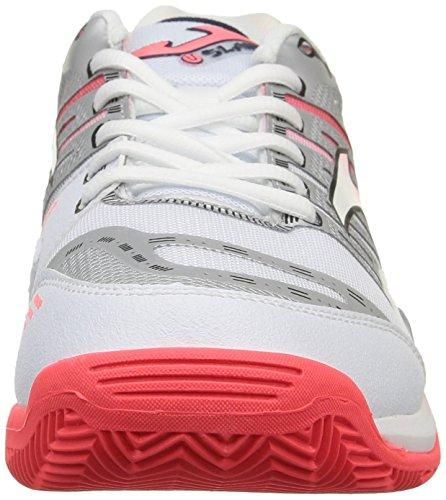 JOMA Slam Lady - Zapatillas de tenis para mujer Blanco / Coral 507