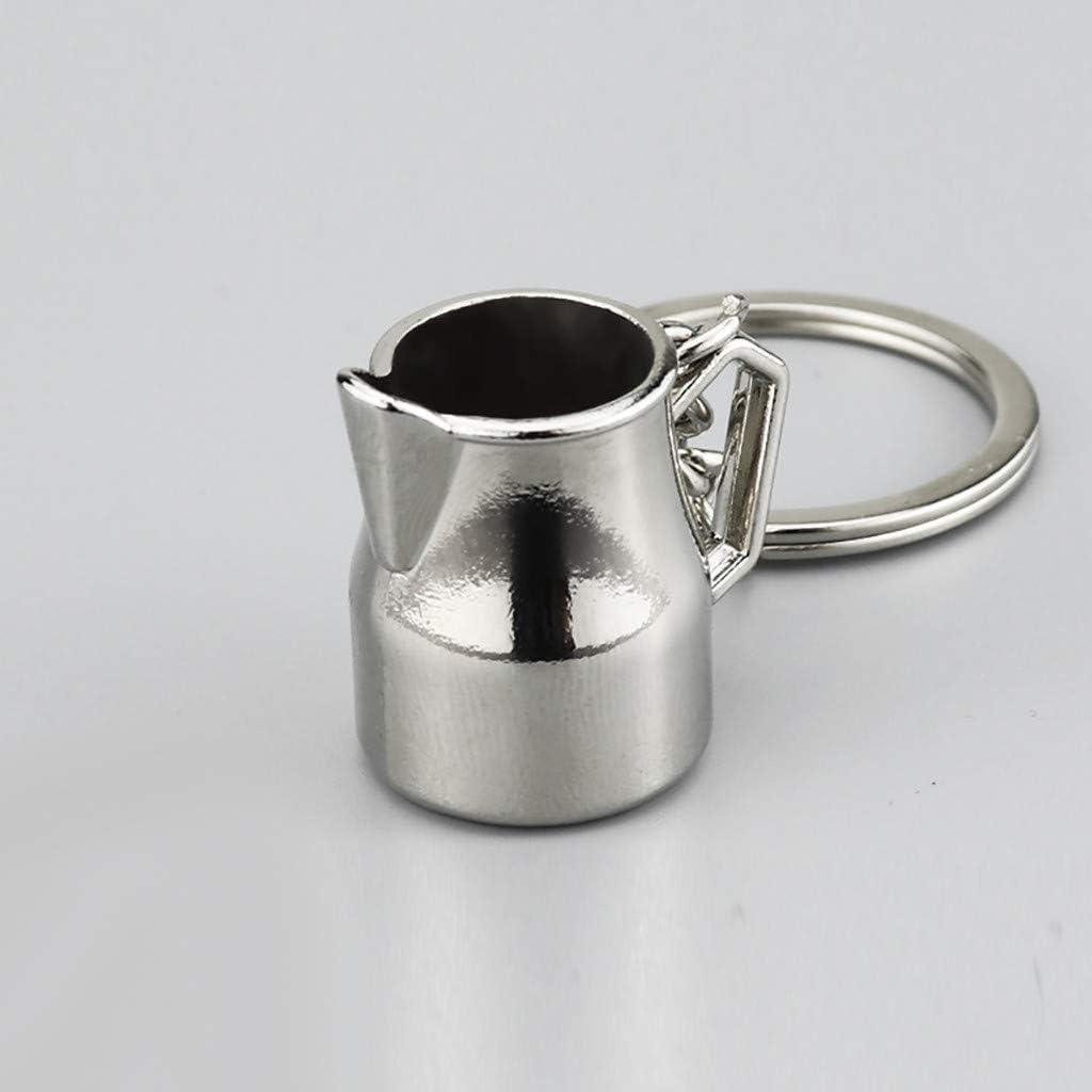 Llavero con diseño de botella de café Una cafetera: Amazon.es: Hogar