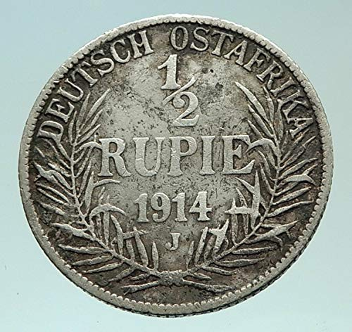 1914 unknown 1914 J GERMAN EAST AFRICA w KING WILHELM II Genui coin Good Uncertified