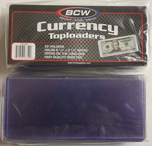 BCW CURRENCY TOPLOADERS Holders Banknotes