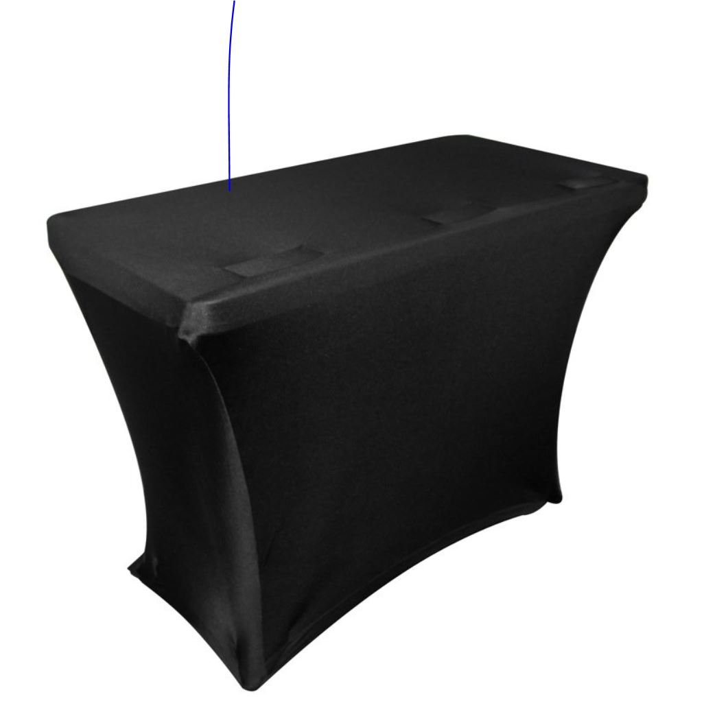 Embroze BLACK Table Scrim CUSTOM DJ Facade Cover For 6 ft Table w Wiring Pockets