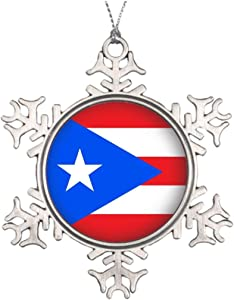 Cheyan Xmas Trees Decorated Round Puerto Rico Outdoor Christmas Tree Snowflake Ornaments Puerto Rico