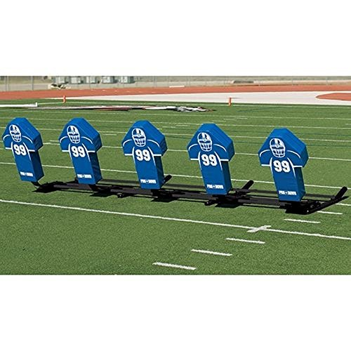 TACVPI Football Blocking Sled with Royal Cone Pads - Varsity M-Series - 7 Man