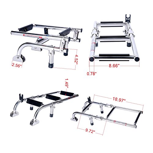 - Amarine Made Marine Boat Foldable Stainless Steel 3 Steps Ladders Stern Mount W Rubber Grips