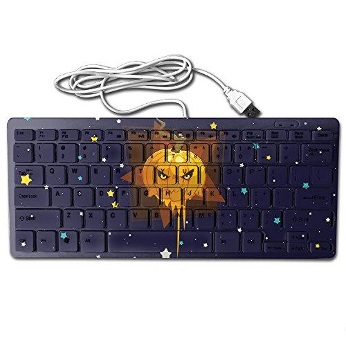 Happy Halloween Funny Pumpkin Keyboard,Gaming Keyboard,Slim Mini Keyboard,USB Keyboard,Wired Keyboard,mouse,78 Key,