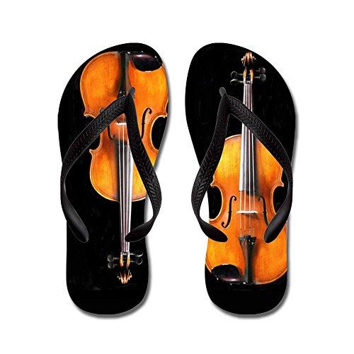 Cafepress Violas-violinsrug.png - Flip Flops, Roliga Rem Sandaler, Strand Sandaler Svart