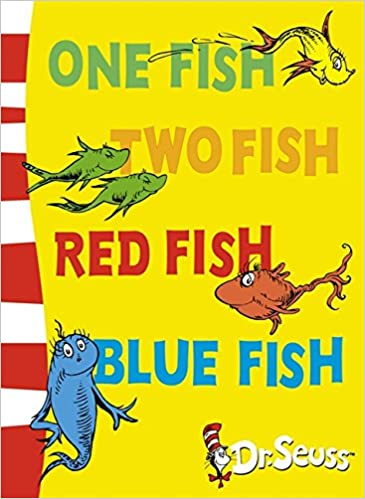 One Fish Two Red Blue Back Book Dr Seuss