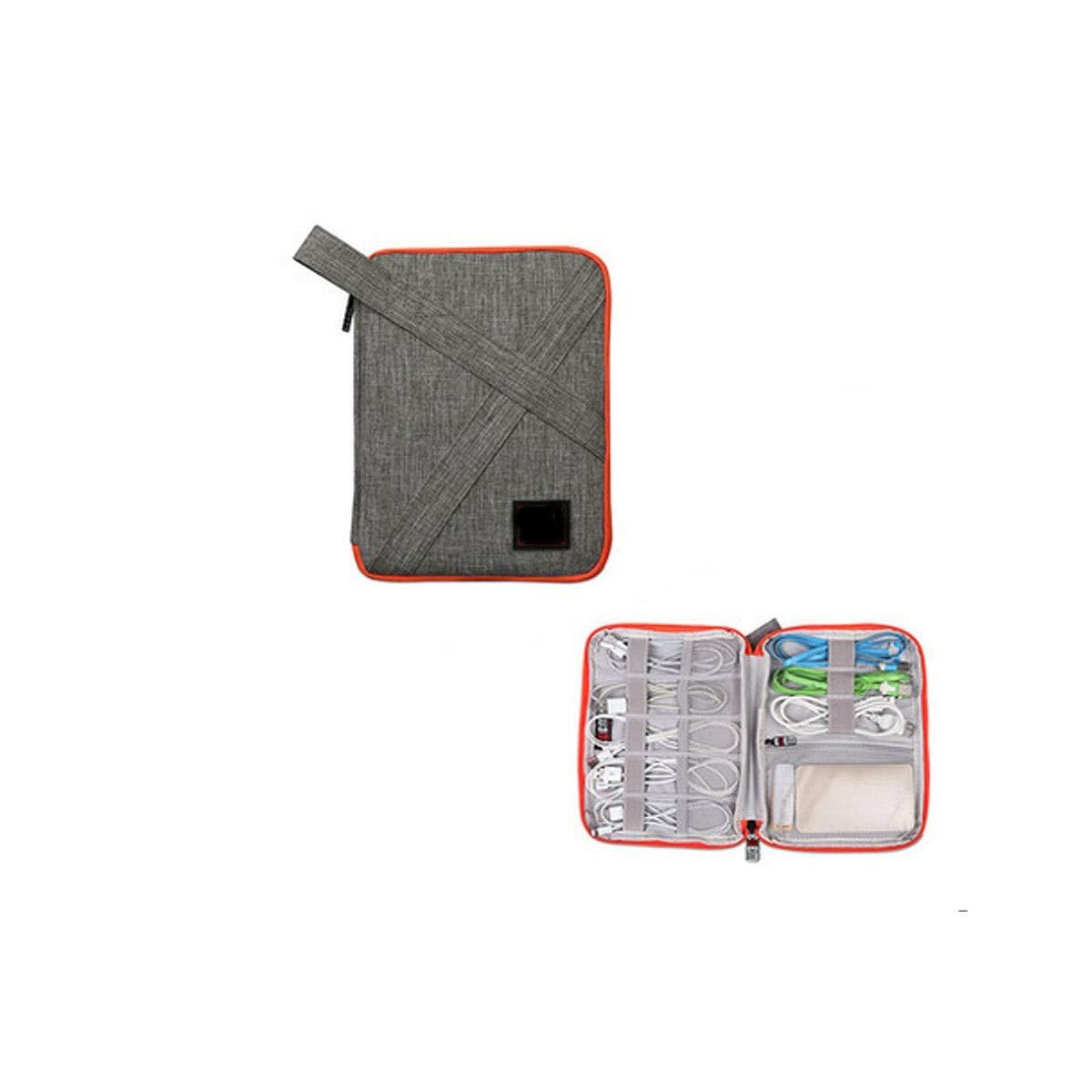 Huijunwenti Electronic Organizer,Cable Organizer,Carry case,Wire Storage Bag, Digital Data Cable Storage Bag, Charging Treasure U Disk U Shield Mobile Phone Headset Storage Bag, Large