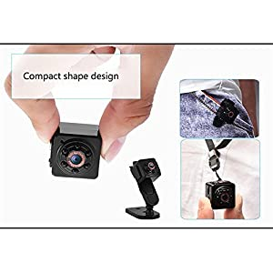 Mini Camera 1080P, Yoeha New Original Small Portable SQ11 HD Camera DV Voice Video Recorder Nanny Cam with Night Vision and Motion Security Camera for Home, Office, Sports and Car