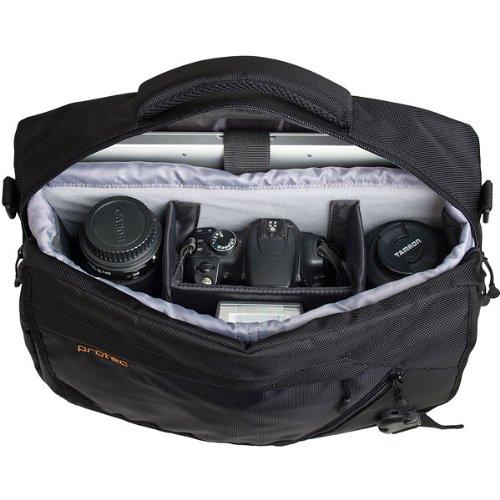 Pro Tec P501 Deluxe Messenger Bag for Camera (Black)