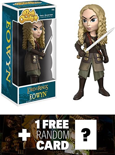 Funko Eowyn Rock Candy x The Lord of The Rings Vinyl Figure + 1 Free Official Hobbit Trading Card Bundle (13647)