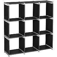 Lovinland 3-Tier 9 Storage Cubes Shelf Rack (Black)