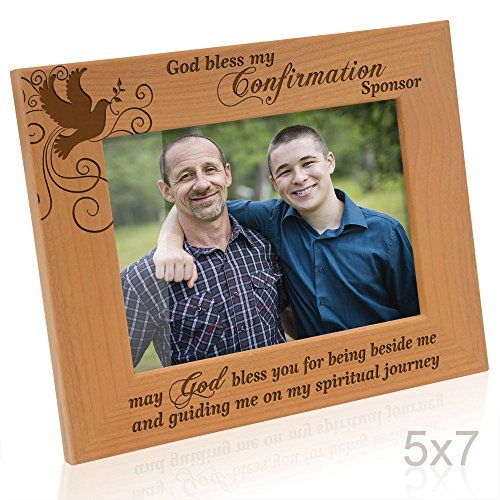 Kate Posh - God Bless my Confirmation Sponsor - may God bless you for being beside me and guiding me on my spiritual journey - Picture Frame (5x7 Horizontal)