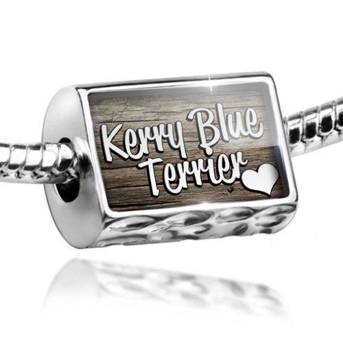 Dog Kerry Charm Terrier Blue (NEONBLOND Charm Kerry Blue Terrier, Dog Breed Ireland - Bead Fit All European Bracelets,)
