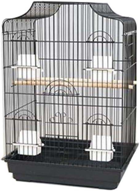 Caseros grandes jaulas de metal loro de mascota, robusto Birdcages hámster de la ventana de visualización erizo Las jaulas con bandeja 47,5 * 36 * 68cm jaula (Color: B, Tamaño: 47,5 * 36 * 68cm) zhang