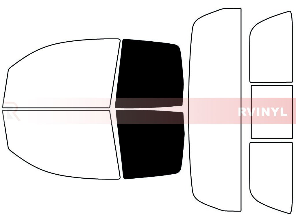 2 Door Double Cab - Complete Kit 20/% Rtint Window Tint Kit for Toyota Tundra 2007-2018