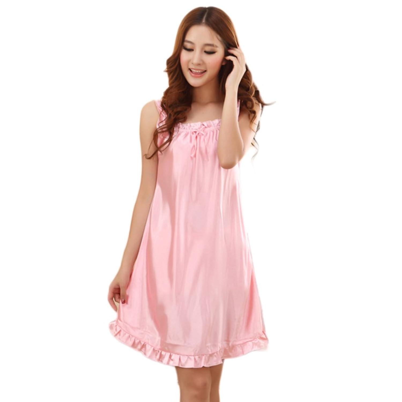 Zehui Womens Lovely Lingerie Robes Imitated Silk Pajamas Babydoll ...