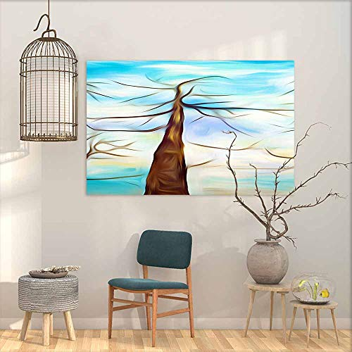 (Abstract Painting Abstract Chaotic Painting Design Wallpaper, Straight Decorations Home Decor W24 xL20)