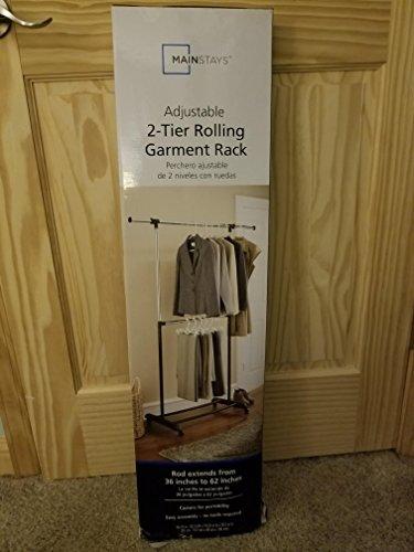 Mainstays Adjustable 2-Tier Garment Rack