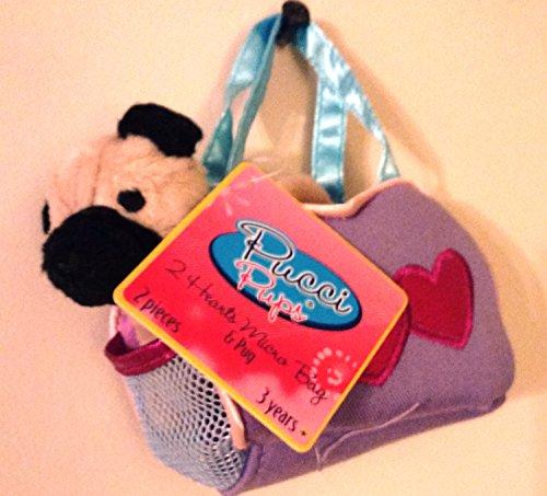 PUCCI PUPS 2 HEARTS MICRO BAG AND PUG - Pucci 2 Piece