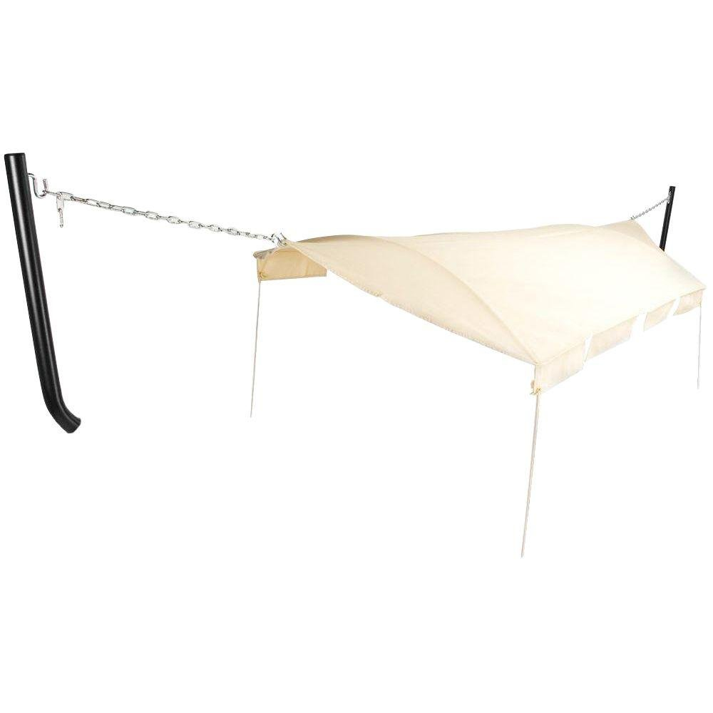 Pawley's Island Hammock Canopy with Tan/Natural Canopy Color and Black Support Poles