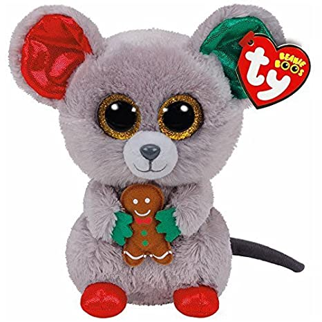 25a64b732e7 Amazon.com  TY Beanie Boo Plush - Mac the Mouse 15cm (Christmas Exclusive)  by Ty Beanie Boos  Toys   Games