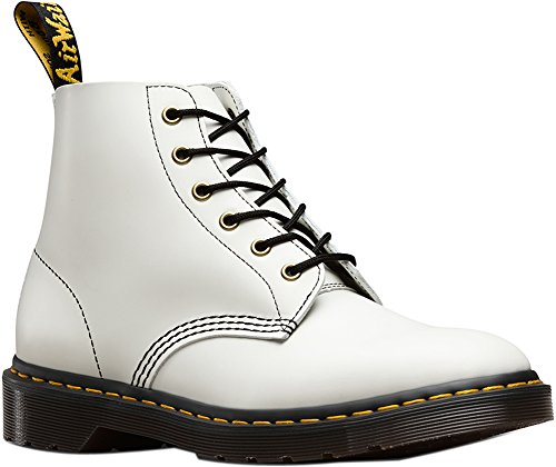 101 6 Leather Arc Eyelet White Mens Dr Martens Boots Bq7wSI7xE
