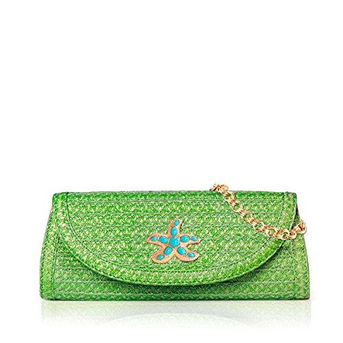 Eric Javits Luxury Fashion Designer Women's Handbag - Paradis - Bright Green by Eric Javits