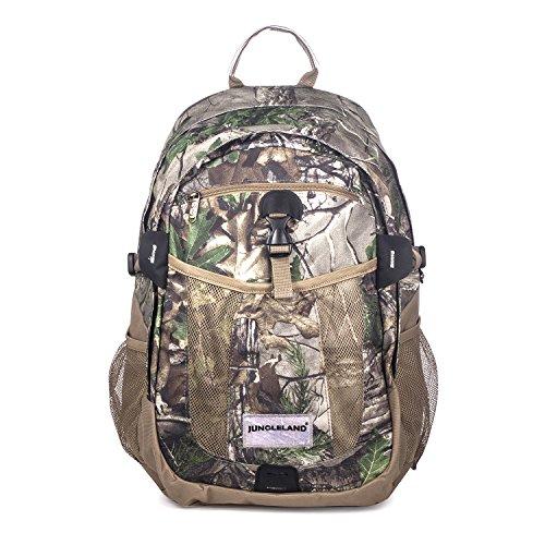 Travel Backpack Laptop, Jungleland Camo Backpack Water Resistant Shockproof School College Bookbag Hiking Daypack for Men & Women, Fits 15.6inch Laptop