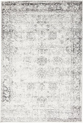 Unique Loom Sofia Collection Gray 4 x 6 Area Rug (4