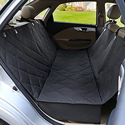SONGMICS Waterproof Pet Car Seat Cover Hammock with Seat Anchors and Side Flaps, Nonslip Backing UPCB57B