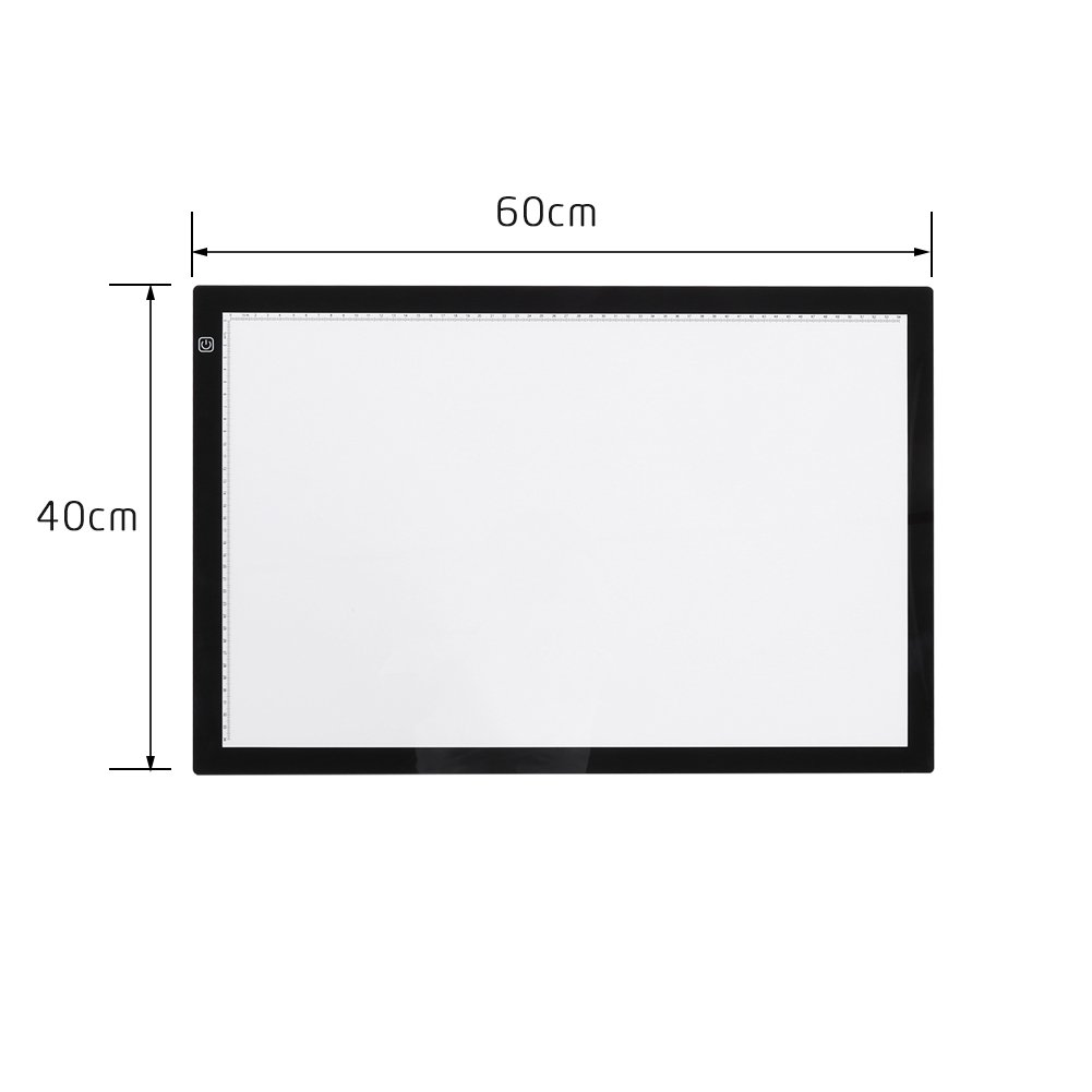 ZJchao A2 LED Tracing Board, Adjustable Brightness Light Box Stencil Drawing Board Table Copy Pad for Artcraft Animation Sketching Tattoo Transferring by ZJchao (Image #8)