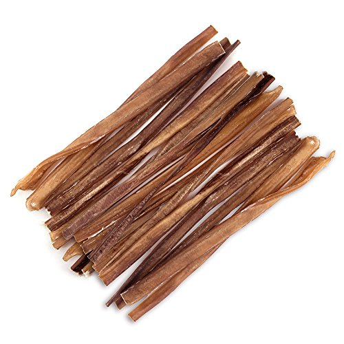 GigaBite 12 Inch Slim Odor-Free Bully Sticks (25 Pack) – USDA & FDA Certified All Natural, Free Range Beef Pizzle Dog Treat – By Best Pet Supplies
