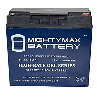 Mighty Max Battery 12V 22AH Gel Battery Replaces Jump N Carry JNC105, JNC110, JNC1224 Brand Product