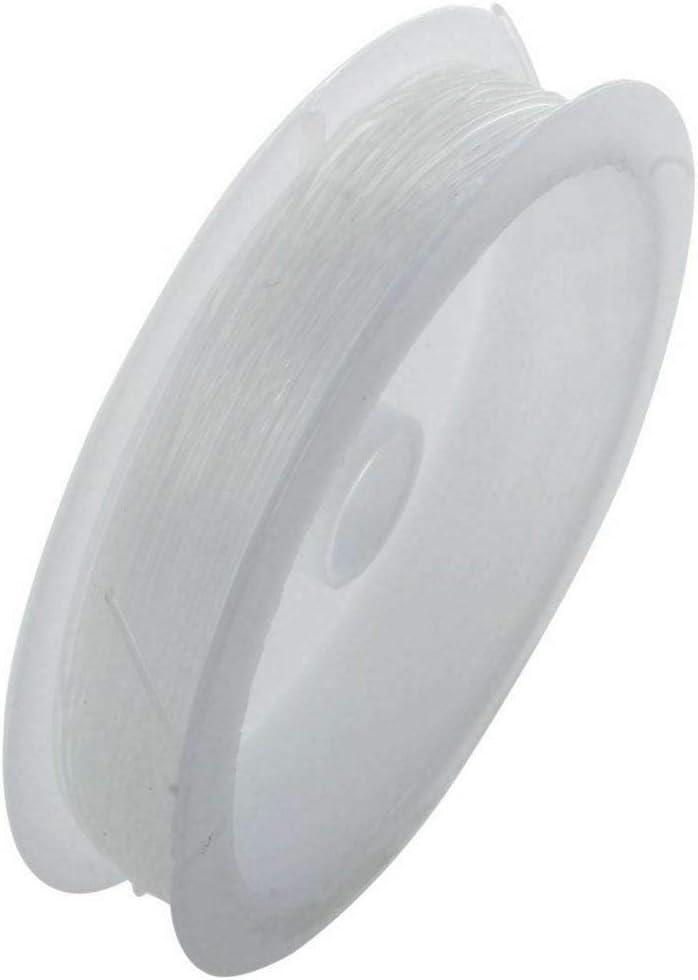 0.5mm hilo de cuentas 18 metres transparente El/ástico transparente para bisuter/ía pulseras manualidades
