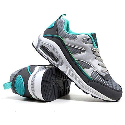 Absorbing Corsa Fitness Tech Sportive Shock Air Scarpe Womens 3 Menta Taglia 7 8 4 6 Argento Palestra Da Ginnastica Donna Calzature 5 zEqE8X