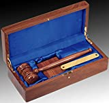 Gavel Presentation Set, Judge, Court, Attorney, Law, Lawyer, Walnut Finish